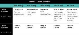 Week 2 holiday program